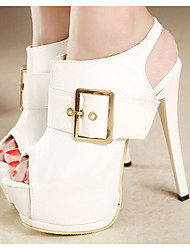Women's Shoes Synthetic Stiletto Heel Open Toe Sandals Party & Evening/Dress Black/White