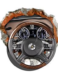 conception pag®modern modèle de roue de direction effet 3d autocollant horloge 16.10 * 14.96 dans