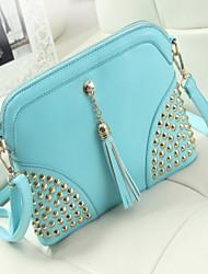 Women 's PU Baguette Shoulder Bag - Blue