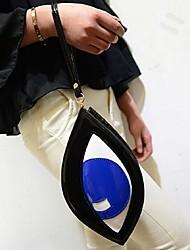 Women 's PU Sling Bag Shoulder Bag - Blue/Black