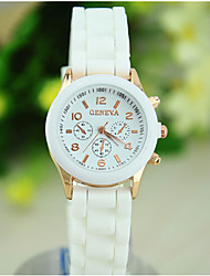Women's European Style Fashion Cute Beautiful Silicone Watch