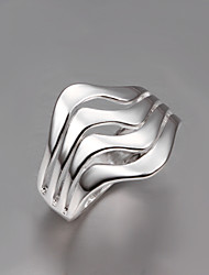Lady Dress S925 Silver Plated Fashion Design Statement Ring