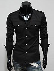 Informeel Shirt Kraag - MEN - Vrijetijds shirts ( Polyester )met Lange Mouw