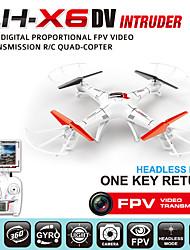 Modo sem cabeça Autoback lh-x6dv intruso ufo Quadrotor zangão realtime fpv 2,4 g rc zangão com câmera fpv