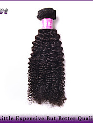 "4Pcs/Lot 10""-28"" Brazilian Virgin Hair Natural Black Color Kinky Curly Unprocessed Human Hair Weaves Dove Hair Products"
