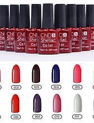 1PCS Sequins UV Color Gel Nail Polish No.1-12 Soak-off(10ml,Assorted Colors)