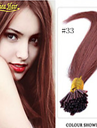 HOT !!! Cheap Soft Natural Pure I Tip Hair Extensions Keratin Hair Extensions Capsules 100g/Bundle Indian Pre Bonded