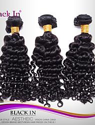 """3 pcs cabelo humano preto lote 12 """"-30"""" waka waka brasileiros onda tramas do cabelo virgem naturais tece emaranhado livre"""