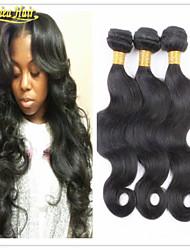 3pcs / lot grado 8a onda del cuerpo del pelo brasileño teje la trama del pelo 3pcs venta caliente remy manojos de cabello humano