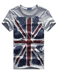 Camisetas ( Algodón Compuesto )- Casual Manga Corta para Hombre