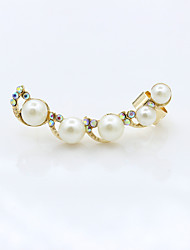 Earring Drop Earrings / Clip Earrings Jewelry Women Alloy / Rhinestone / Platinum Plated 1pc Gold