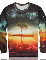 Men's High Quality Creative Lovely Pattern Stereo Fashion Personality 3D Sweater——Dream Of A Tree