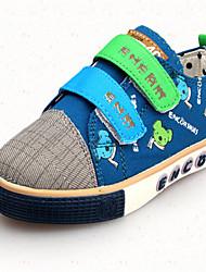 Sneakers a la Moda ( Azul/Caqui ) - Punta Redonda - Tela