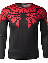 Men's Long Sleeve Autumn Cycling T-shirt Breathable/Quick Dry Black M/L/XL/XXL/XXXL/XXXXL Stretchy