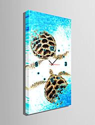 Прямоугольный Модерн Настенные часы , Прочее Холст 30 x 60cm(12inchx24inch)x1pcs /40 x 80cm(16inchx32inch)x1pcs