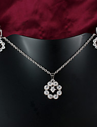 2015 produtos de venda quente platina ocasional colar banhado conjunto de colar de jóias de marca