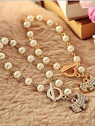 New Arrival Fashional Rhinestone Dog Pearl Bracelet