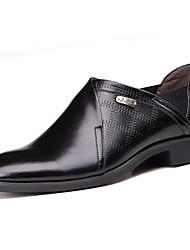 Zapatos de Hombre Boda/Oficina y Trabajo/Fiesta y Noche Cuero Oxfords Negro/Marrón/Naranja