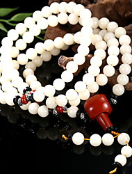 Natural White Bodhi Beads with Root Africa Southern Red Coconut Shell