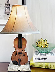Desk Lamps 220V Resin Fabric European Violin Retro Classic