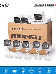 cotier®8ch Mini kits nvr 8pcs cámaras de visión nocturna / 720p / 960p / 1080p / p2p / H.264 / ip n8b7-mini / l