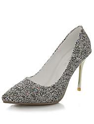 Women's Shoes Glitter Stiletto Heel Heels/Pointed Toe Pumps/Heels Party & Evening/Dress/Casual Yellow/White/Metallic