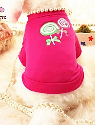 Cat / Dog Shirt / T-Shirt / Clothes/Clothing Rose Summer Pearl Wedding / Cosplay