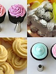 6pcs Vereisung Rohrdüsen Kuchen dekorieren sugar Gebäck Tipps Tool-Set