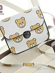Handcee® Hot Selling Cute Bear Pattern Lady PU Fashion Sling Bag