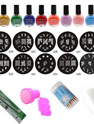 Nail Art Stencils Stamping Template Tools(24Pcs/Set)