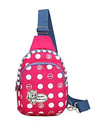 donne 's borsa di nylon baguette spalla - blu / rosso