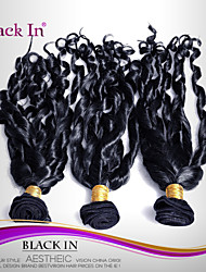 "3 Pcs Lot 12""-30"" Brazilian Spiral Curl Virgin Hair Wefts Jet Black Human Hair Weaves Tangle Free"
