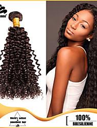 4pcs Brazilian Virgin Hair Kinky Curl 8-30 Inches Human Hair Brazilian Dark Brown Human Hair