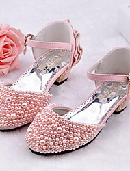 Girls' Shoes Wedding/Party & Evening/Dress/Casual Heels/D'Orsay & Two-Piece/Closed Toe Leatherette Heels Pink/White