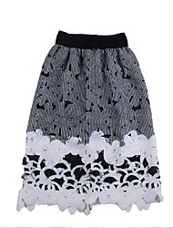 Women's Sexy/Casual/Lace Above Knee Skirts , Lace/Mesh Inelastic