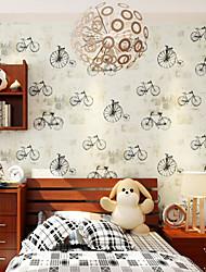 novo papel de parede do arco-íris ™ estilo britânico art deco papel de parede padrão de bicicleta revestimento de parede, art deco papel
