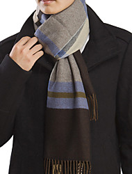 Men's Plaid Warm Scarf