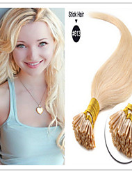 Keratin Stockspitze / i spitzen Haarverlängerung natürliche schwarze Farbe 100 Stränge / Los