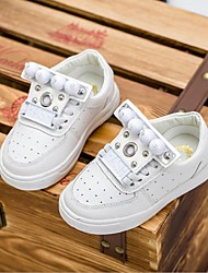 Boy's / Girl's Sneakers Spring / Fall Comfort / Closed Toe Leatherette Outdoor / Casual Flat HeelImitation Pearl / Rivet / Buckle /