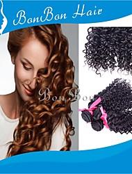 cabelo humano tecelagem mongol 4pcs cacheados excêntricas