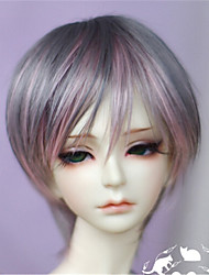 "TITA 1/3 8-9"" Dal MSD Pullip BJD SD LUTS Supper Dollfie Doll Gray Short Wig"
