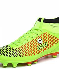 Men's Soccer Shoes Microfibre Black / Green / Orange