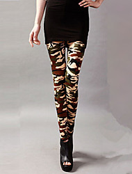 Naisten Polyesteri/Spandex Leggingsit ,  Keskipaksu