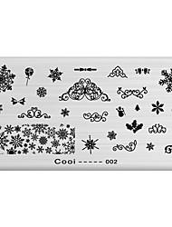 DIY Nail Art Stamp Stamping Image Template Plate/Nail Stencils Snowflake Pattern