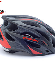 MOON Sykling Black and Red PC / EPS 21 Vents Protective Ride Helmet