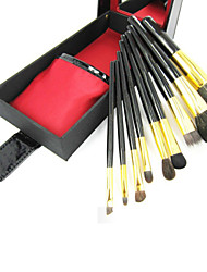 9Pcs Professional Wool Makeup Brush Set with Free Box