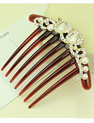South Korea's Hair Combs Bride Sharp Pearl Inserted Comb Twist