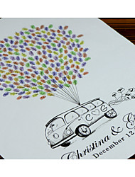 Finger Print Baloon and Car edding Singnature Tree, Wedding Guest Book Alternative