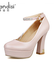 Women's Shoes Chunky Heel Heels Sandals Casual Blue/Pink/White
