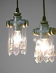 Vintage Pipe Pendant Lights Crystal Country Living Room/Bedroom/Dining Room/Study Room/Outdoors/Metal+Crystal